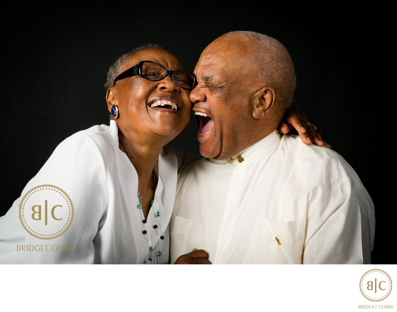 Grandparents Photographed in Johannesburg Studio