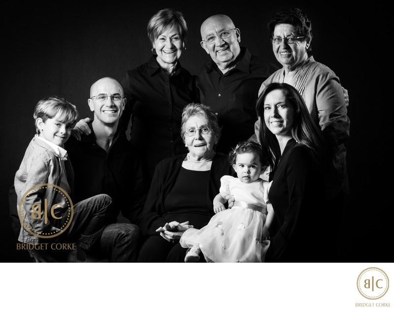 Three Generation Family Captured in Johannesburg Studio