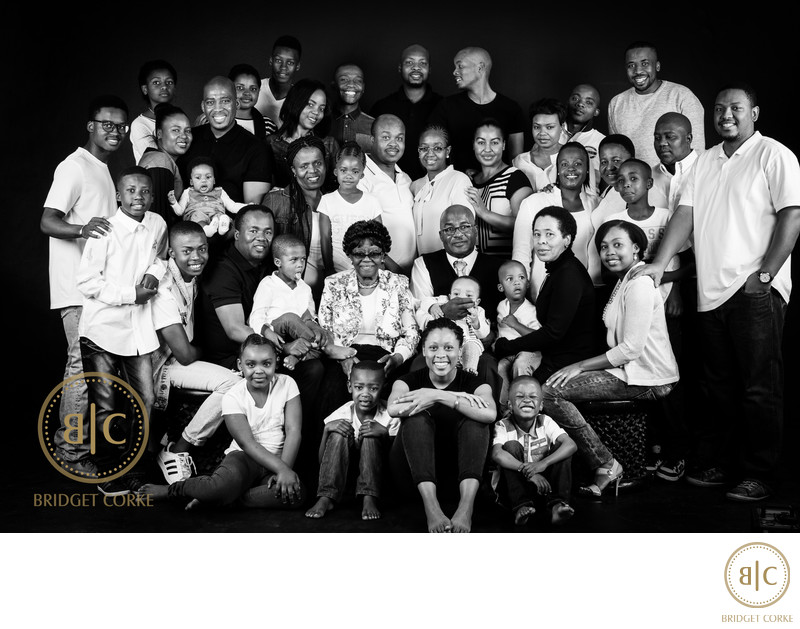Very Large Family Studio Shoot Johannesburg