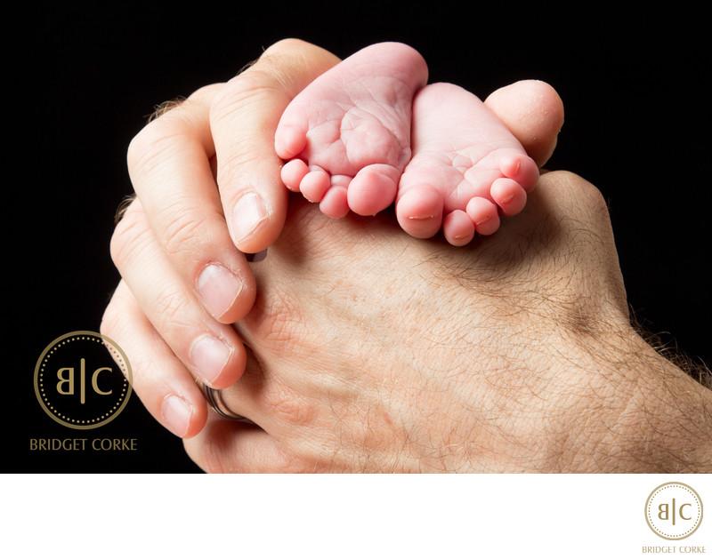 Newborn Feet Photographed in Johannesburg Studio