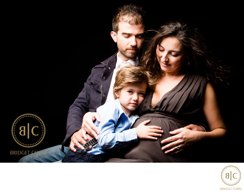Mother, Father and Son Maternity Studio Shoot