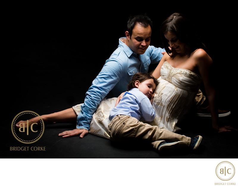 Family Pregnancy Studio Shoot