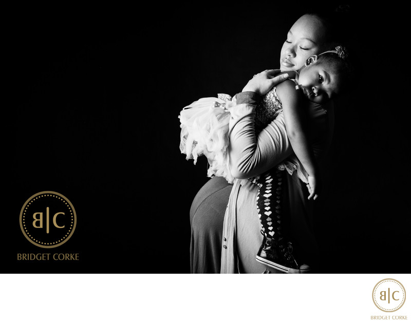 Quiet Maternity Moment Captured in Johannesburg Studio