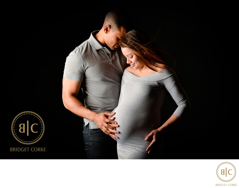Father and Mother-to-be Studio Shoot