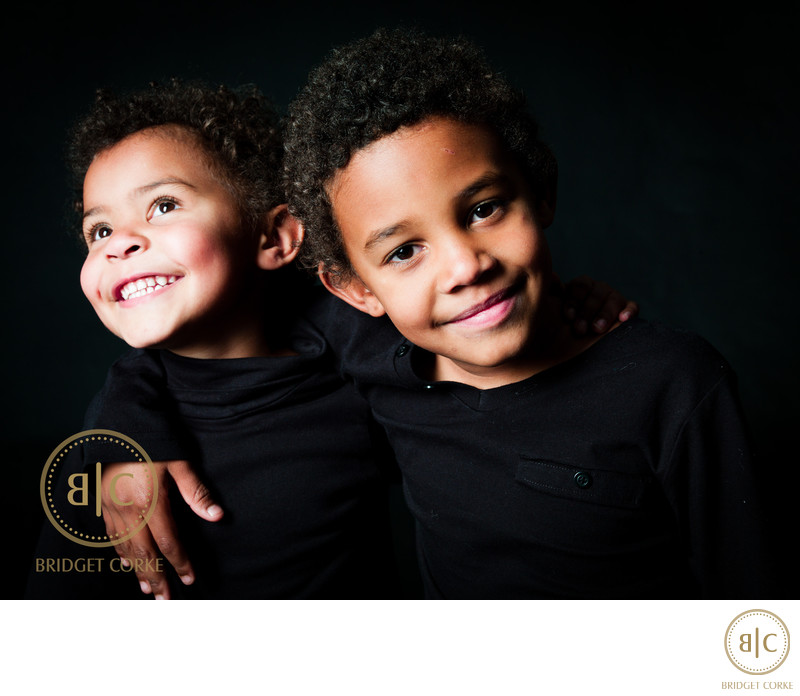 Siblings Photographed in Johannesburg Studio