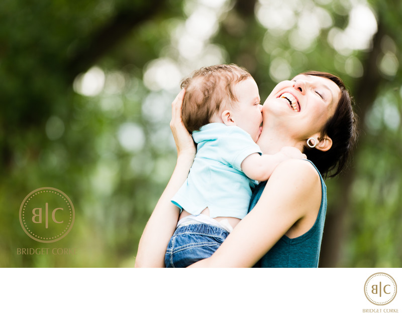Outdoor Mother and Son Johannesburg Photograph