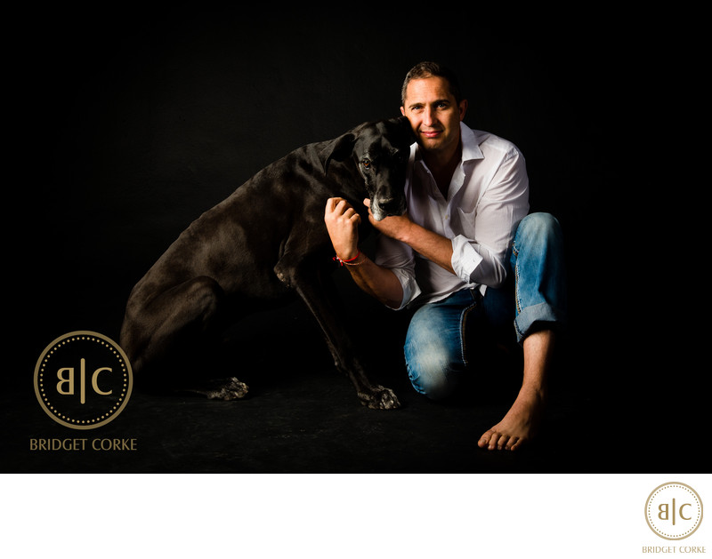 Black Great Dane Dog Pet Photographer Johannesburg