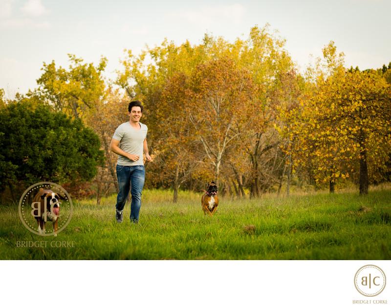 Boxer & Dachshund Outdoor Dog Pet Photographer Johannesburg