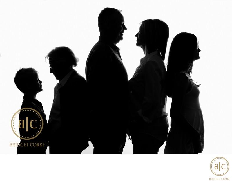 Family Studio Black & White Photography Johannesburg