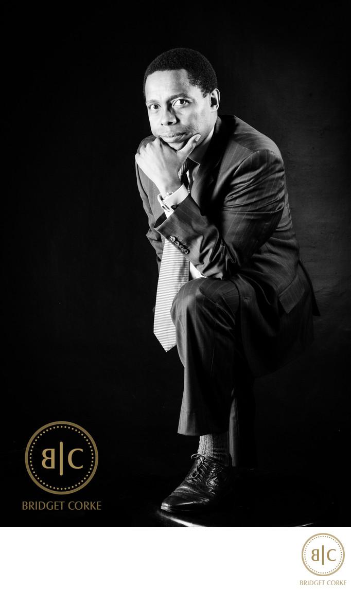 Studio Corporate Portrait of Lungile Mazwai