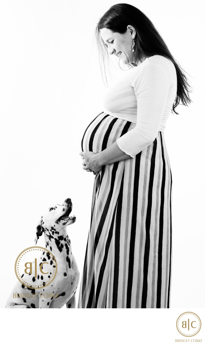 Maternity Studio Shoot with Dog