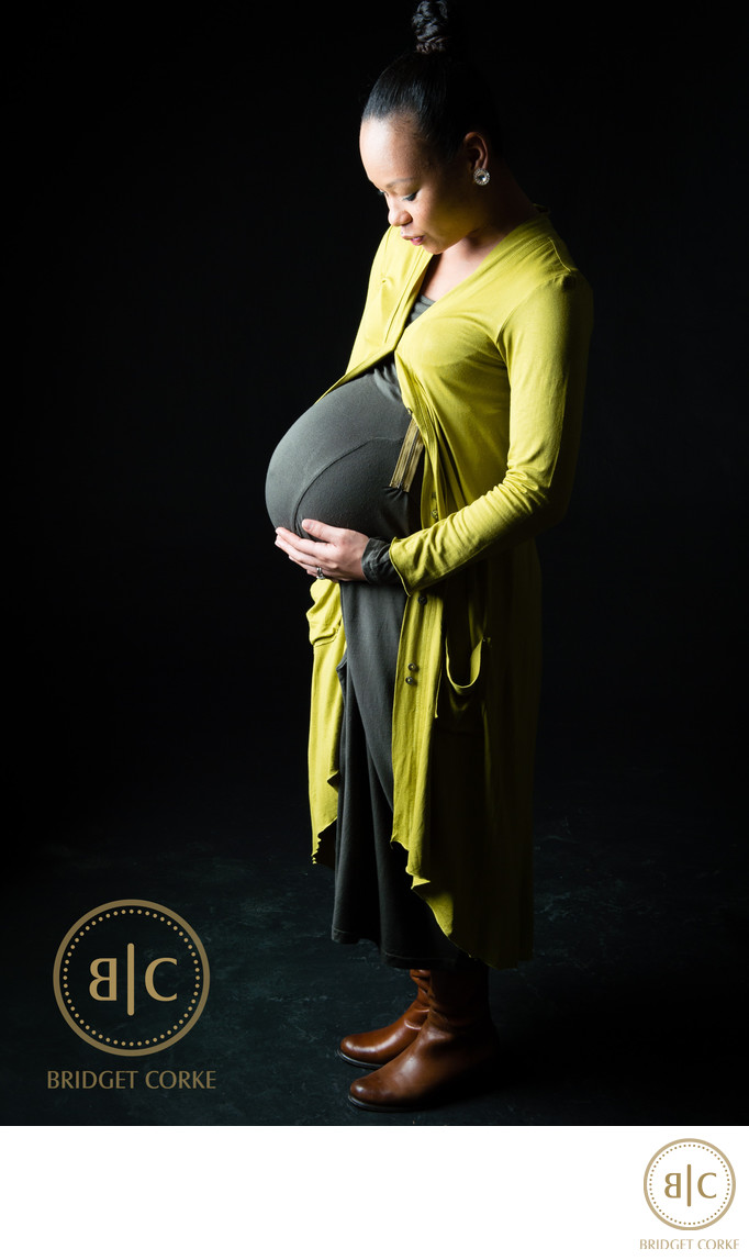 Incredible Pregnancy Bump Photographed in Studio