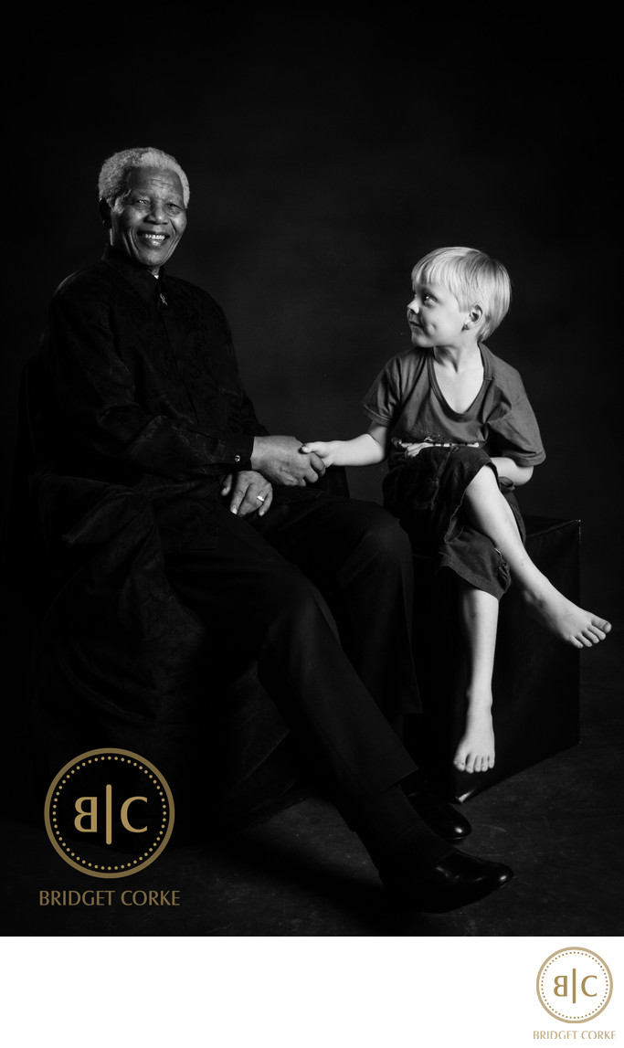 Mandela and Sebastian Portrait Photograph