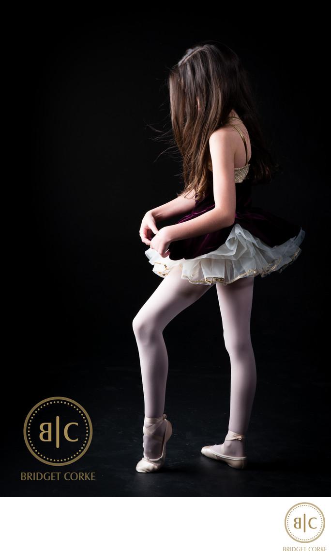 Ballet Girl Photographed in Johannesburg Studio