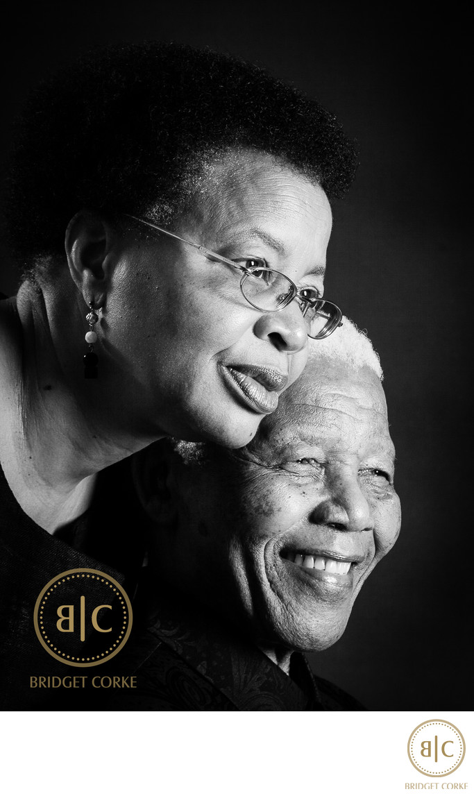 Nelson Mandela and Graca Machel Portrait Photographed in 2008
