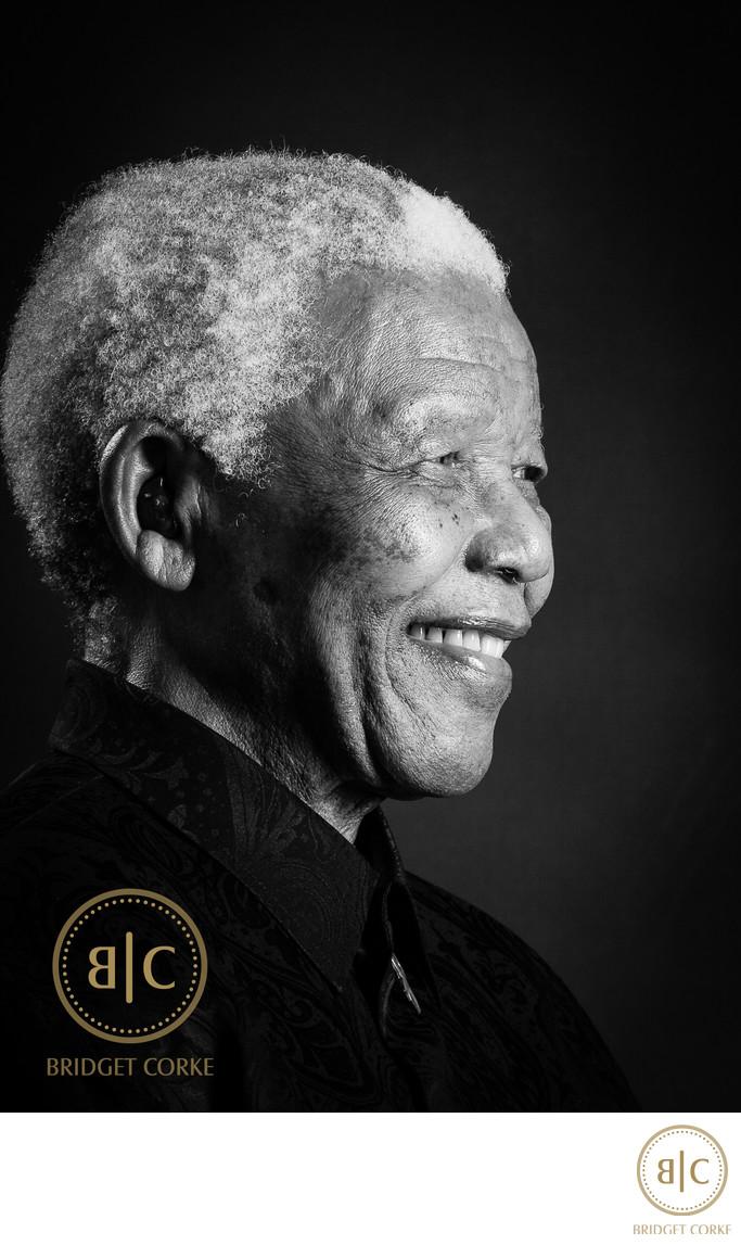 Nelson Mandela, Madiba, Portrait by Bridget Corke in 2008