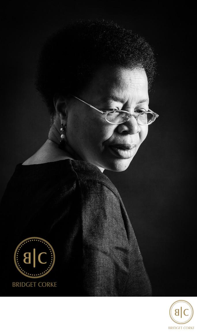 Graca Machel Portrait by Bridget Corke