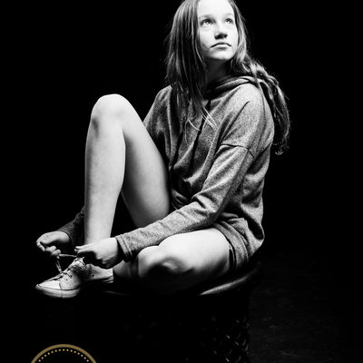 Teenager During Family Shoot in Johannesburg Studio