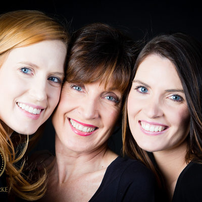 Mother And Daughter Photographed in Studio