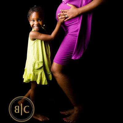 Pregnant Mother and Daughter Captured in Johannesburg Studio