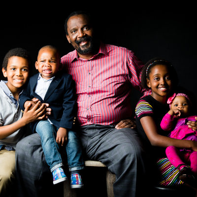 Growing Family Photographed in the Studio