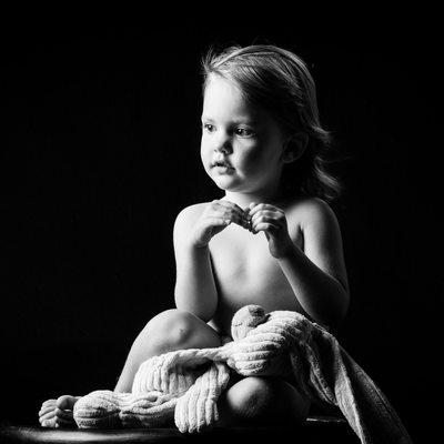 Black & White Johannesburg Child Photography