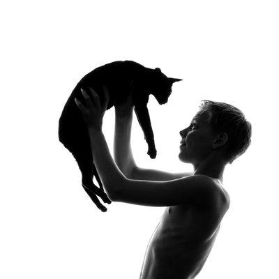 Boy & Cat Family Studio Photography Johannesburg