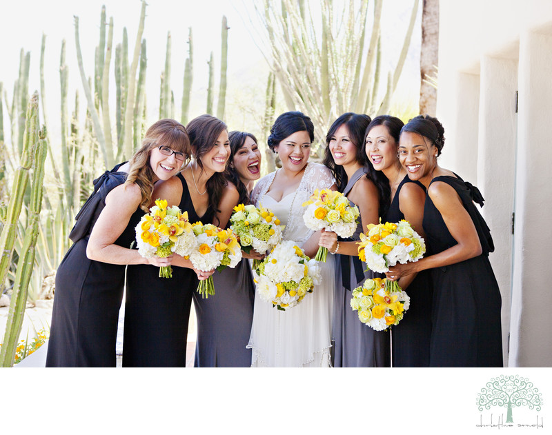 Palm Springs Wedding Party Photographs O'Donnell House