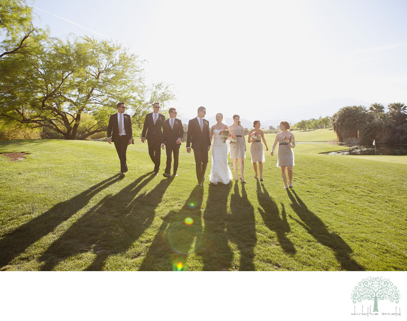 Golf Course wedding party Photographer