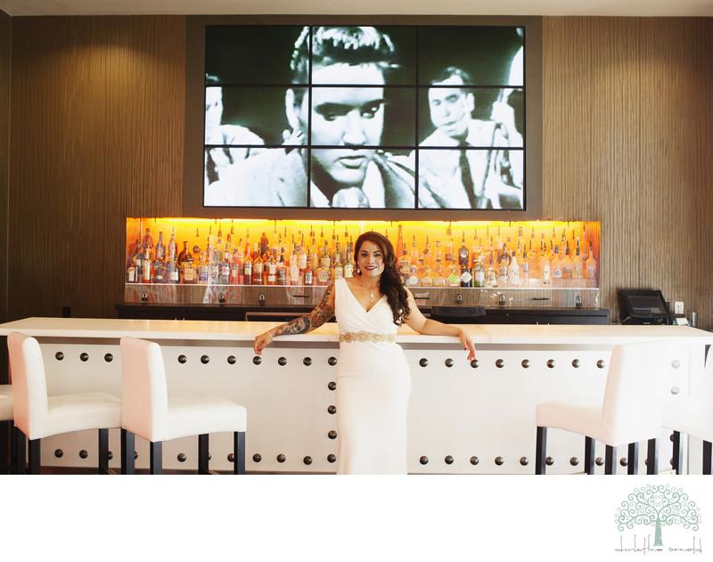 Bridal portraits at Riviera Hotel