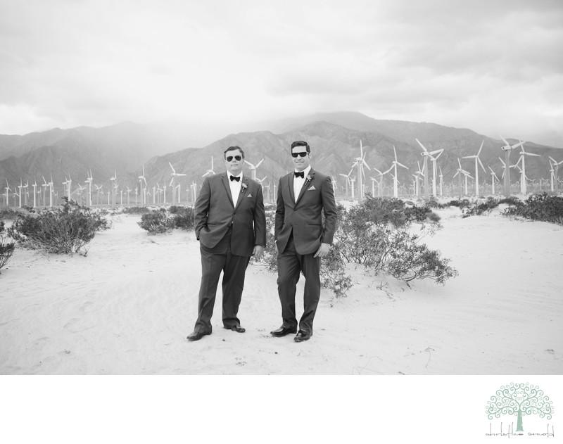 Windmills, Wedding Portraits Palm Springs
