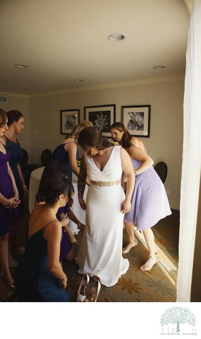 Bridal preparation photographs Riviera palm Springs