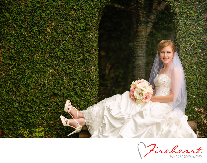 Bridal at Bell Tower by houston wedding photographer