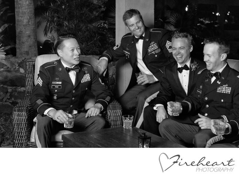Rat Pack Inspired Groomsmen - houston wedding photo