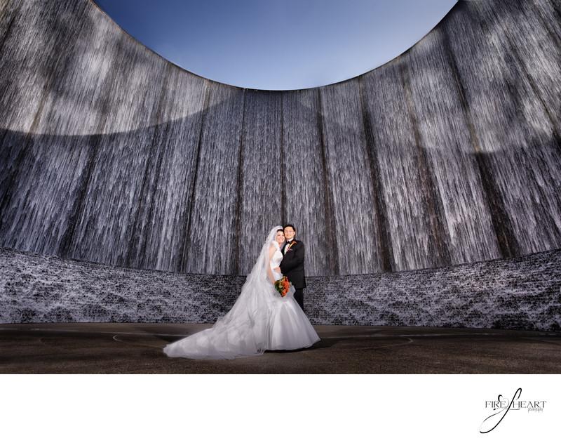 Houston Wall of Water Wedding Photographers