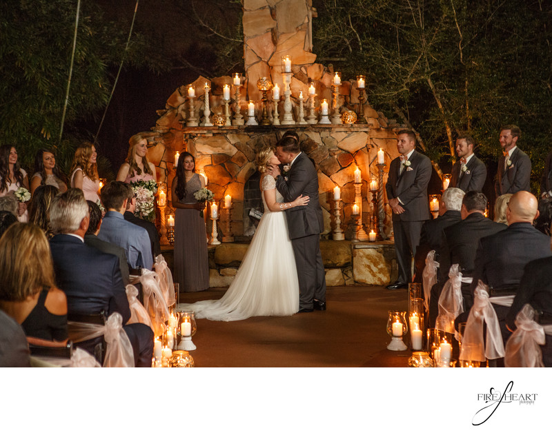Candle light wedding at Agave Estates