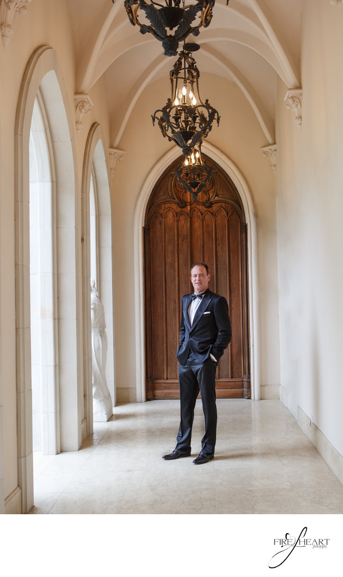 Groom Portrait at Chateau Cocomar