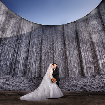 Houston Wall of Water Wedding Photographers