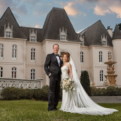 Chateau Cocomar Wedding Portrait
