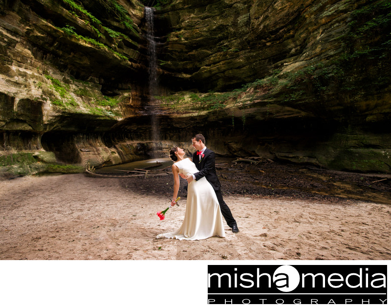 garden wedding at starved rock state park