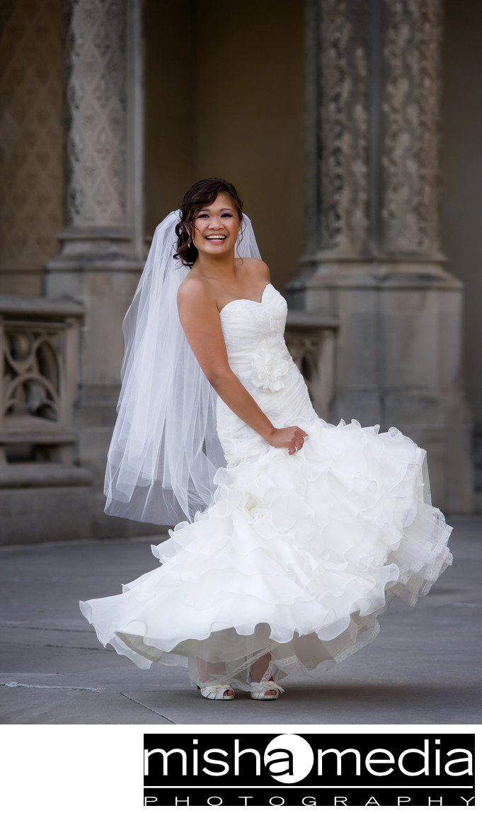 wedding dress at Biltmore Estates