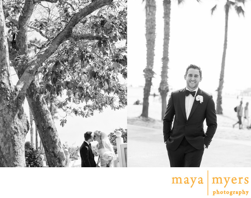Wedding Portraits Santa Monica Beach