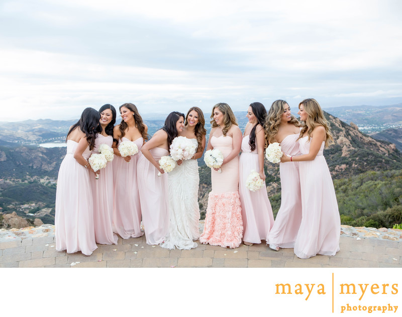 Bridesmaid Portraits Malibu Rocky Oaks