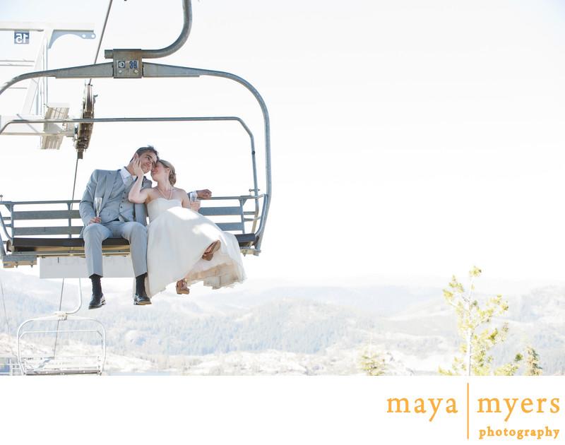 Ski Lift Wedding Photos