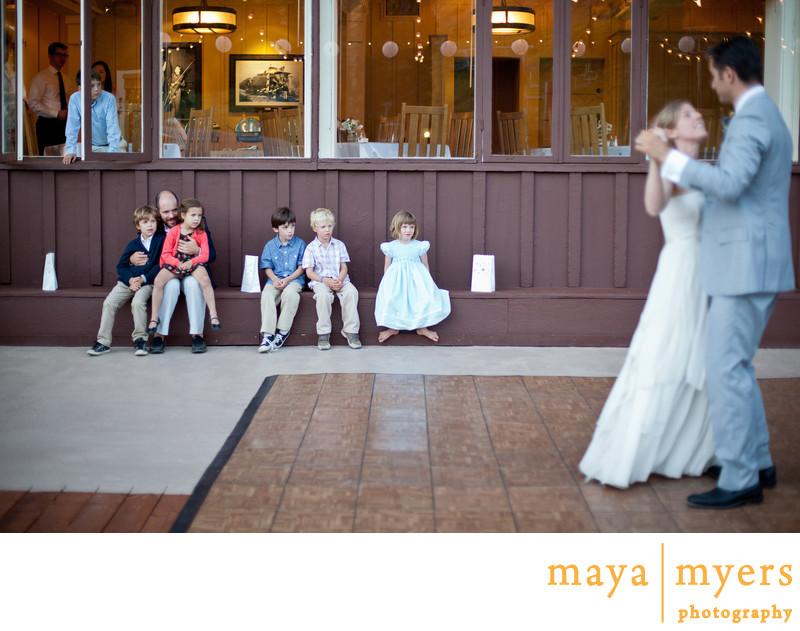 Deck Reception Wedding at Sugar Bowl Resort