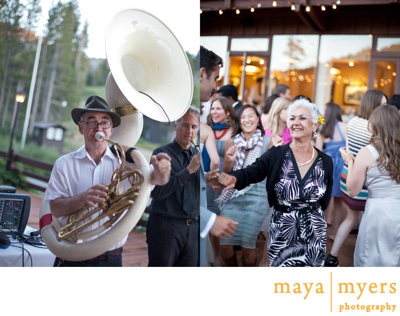 Outdoor Wedding Receptions at Sugar Bowl Lodge