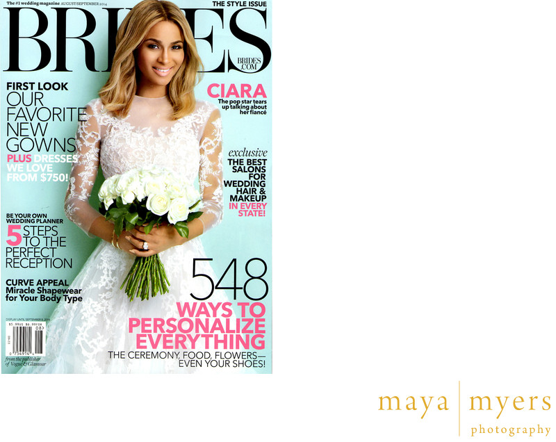 Saddlerock Ranch wedding featured in BRIDES magazine