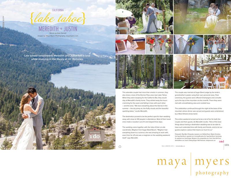 Lake Tahoe summer wedding photographer