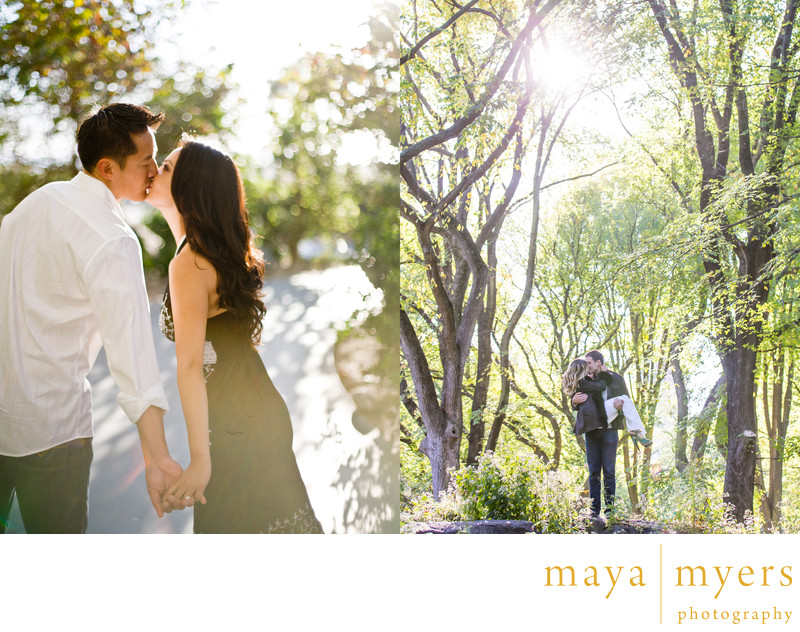 Central park woodsy engagement session