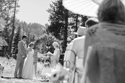 Wedding Ceremony Sugar Bowl Truckee